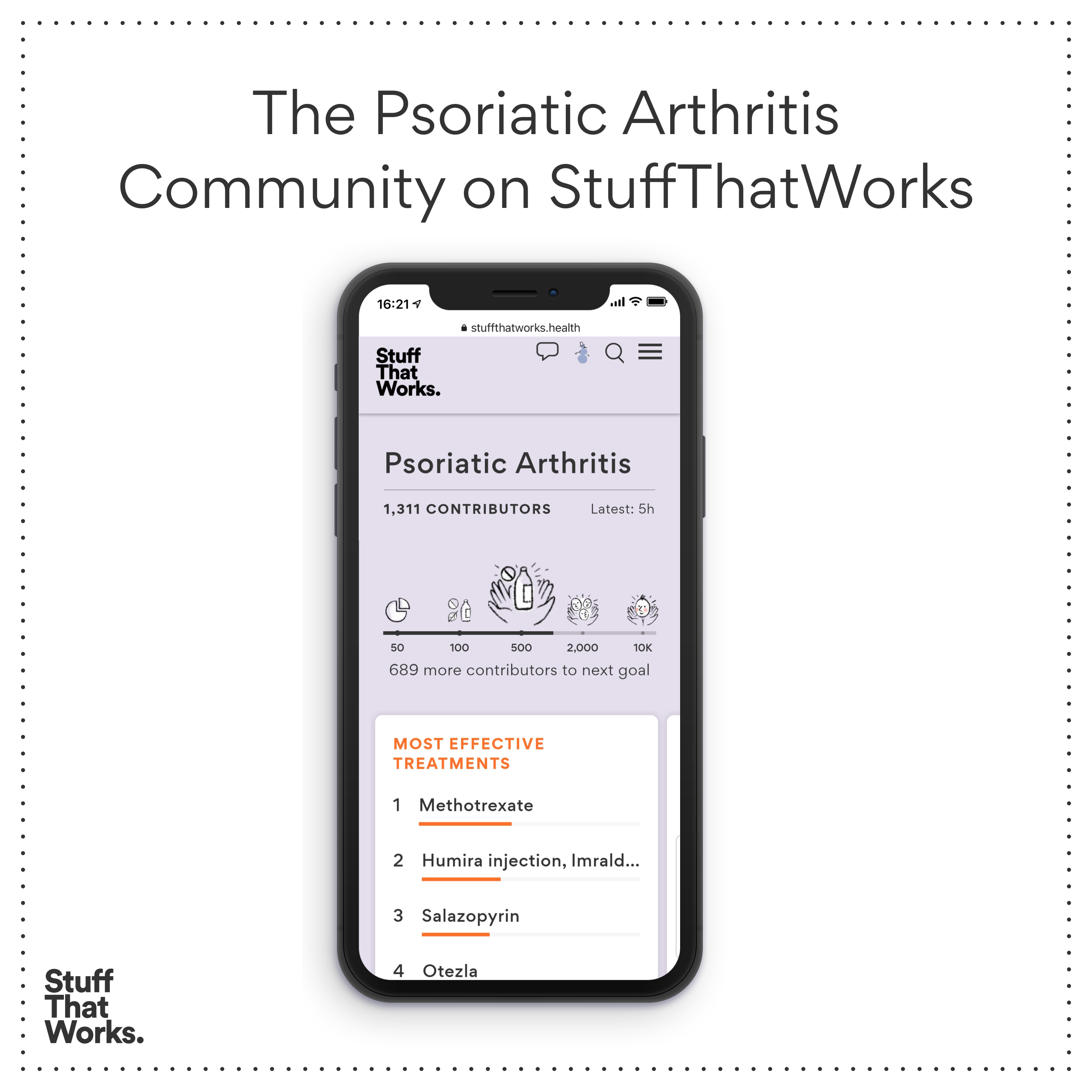 StuffThatWorks Psoriatic Arthritis Uninvisible Pod