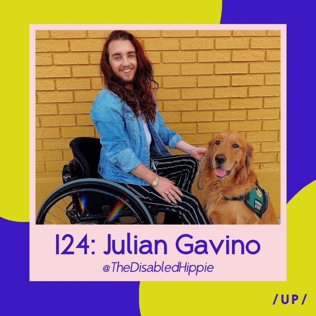 Julian Gavino The Disabled Hippie Disabled with Dignity Zebedee Models We Speak Model Management representation disability transgender trans influencer coach